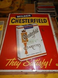 Vintage advertising signs, Michigan Peat, Coca Cola, Tobacco, Chesterfield, Soda, petroliana