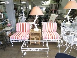 Offered are restored vintage wrought iron in a powder coated finish!