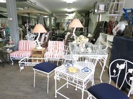 Warehouse full of vintage high end patio furniture!  Many more pieces not listed!