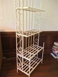 Vintage baker's rack great for outdoor/indoor plants. Original condition