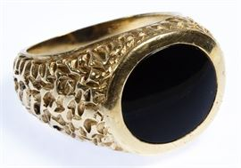 14k Gold and Onyx Ring