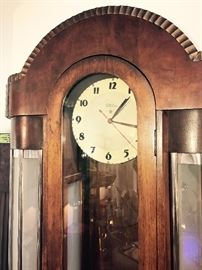 RARE 1930's Art Deco Telechron Cocktail Glass Lighted Floor Clock
