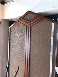 Art Deco Walnut And Mesh Screen Panels From The Mercury Theater In Chicago