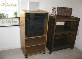stereo and cabinets