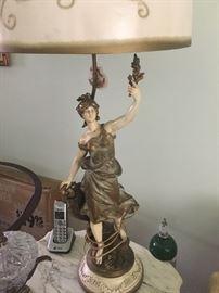 Pair figural lamps