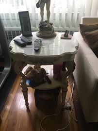 Matching marble top end tables