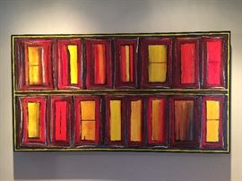 "Custom Original Signed Art Titled ""Windows""."