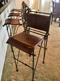 Leather and Iron Bar Stool!  - Very unique.  A definite statement to any kitchen/dining area!