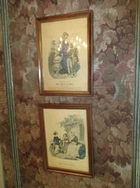 Pair of wall prints