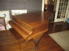 Baby grand piano very nice Circa 1880s chicory