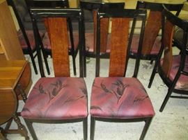 Black lacquer chairs for dining room table