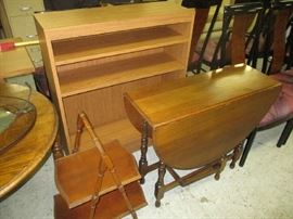 Drop leaf table and bookcase