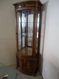 Perfect small curio cabinet.