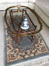Coffee Table and Wool Area Rug