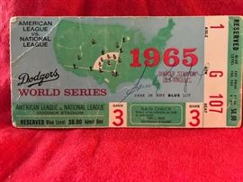 front of world series ticket