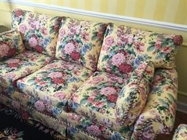 3-cushion couch - back cushions are down wrapped - very comfy!