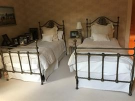 Pair of Iron Twin Beds