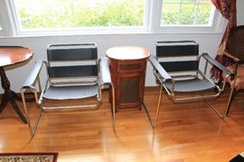 Wassily chairs and side table