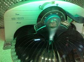Records Inside Juke Box