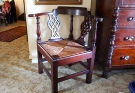 Corner chair-Rush seat-$495.00