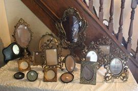 Assorted Gilt, Walnut,Brass,Wooden,Victorian frames. Various prices