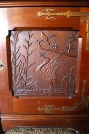 Carving on credenza door
