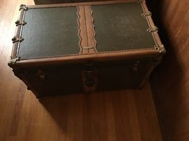 Steamer Trunk made in DC by James S Topham