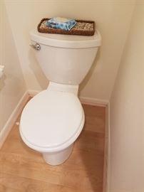 Multiple toilets & vanitys