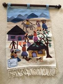 Lesthoto wool tapestry