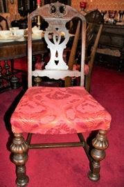 antique table set chairs