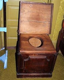antique chamber potty