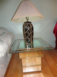 Pair of side tables matching coffee table