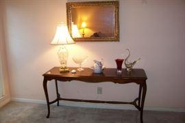 1930's sofa table in mahogany