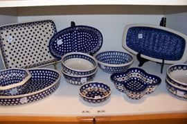 Pottery serving pieces from Portugal