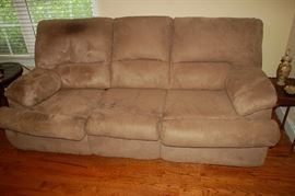 Suede leather sofa - Cleveland Chair Company