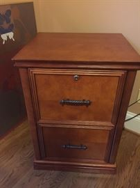 Solid wood file cabinet