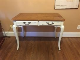 Distressed desk with cabriole legs