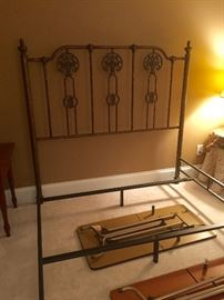Queen size iron bed with side rails