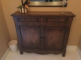 Entryway 2 drawer/door cabinet
