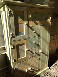 Thea Segal hand painted armoire.