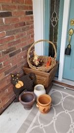 Great pots and Halloween Decorations