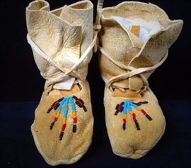 Native American Moccasins Beaded