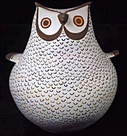 Juana Leno Owl Effigy Pot