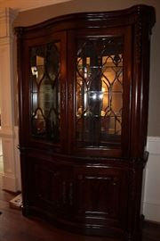Lighted china cabinet (made in the USA)