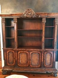 Still available - Formal Bookcase over credenza