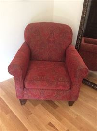 Great red paisley reading chair