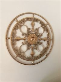 Metal filigree wall art