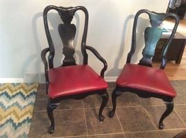 2 of 4 Queen Anne style dining chairs