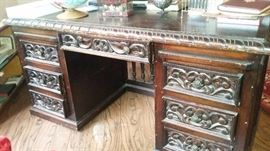 Carved Spanish style desk