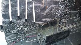 Lots of Spanish style wrought iron decor
